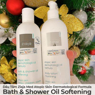 Dầu Tắm Mềm Mịn Da Ziaja Med Atopic Skin Dermatological Formula Bath & Shower Oil Softening-4