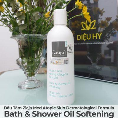 Dầu Tắm Mềm Mịn Da Ziaja Med Atopic Skin Dermatological Formula Bath & Shower Oil Softening-5