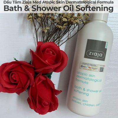 Dầu Tắm Mềm Mịn Da Ziaja Med Atopic Skin Dermatological Formula Bath & Shower Oil Softening-9