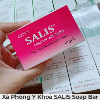 Xà phòng y khoa salis soap bar-4