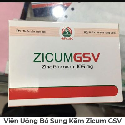Viên Uống Bổ Sung Kẽm Zicum GSV-1