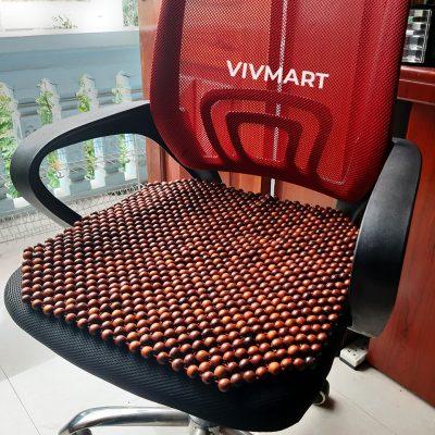 đệm ghế văn phòng hạt gỗ hương đỏ-3a