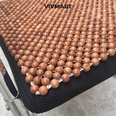 đệm ghế văn phòng hạt gỗ hương vân-1a