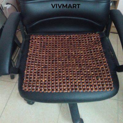 đệm ghế văn phòng hạt gỗ nu hương-4a