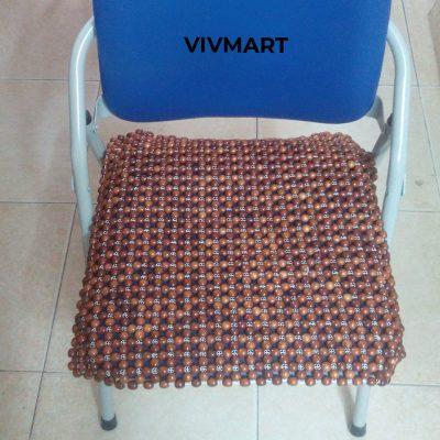 đệm ghế văn phòng hạt gỗ nu hương-7a