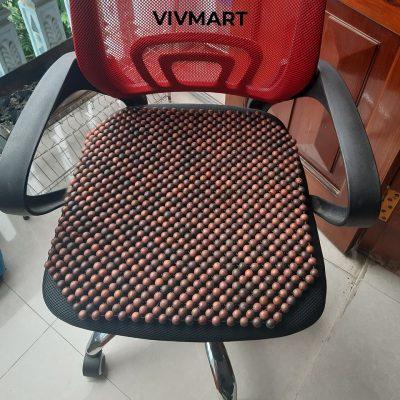 đệm ghế văn phòng hạt gỗ trắc-3a