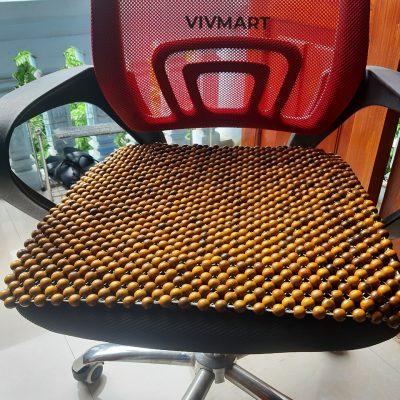 đệm hạt gỗ bách xanh lót ghế văn phòng-7
