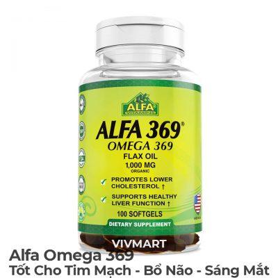 Alfa Omega 369 - Tốt Cho Tim Mạch Bổ Não Sáng Mắt-10a