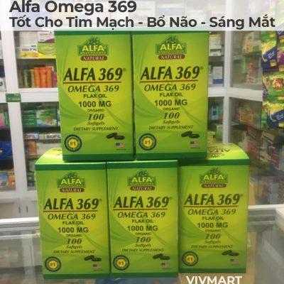 Alfa Omega 369 - Tốt Cho Tim Mạch Bổ Não Sáng Mắt-12a