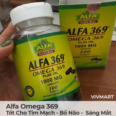 Alfa Omega 369 - Tốt Cho Tim Mạch Bổ Não Sáng Mắt-13a
