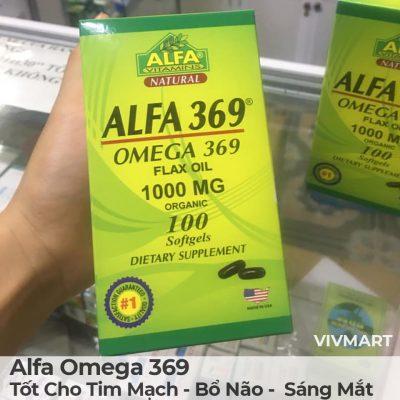 Alfa Omega 369 - Tốt Cho Tim Mạch Bổ Não Sáng Mắt-16a