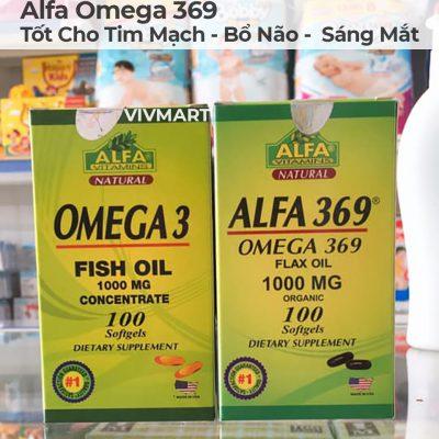 Alfa Omega 369 - Tốt Cho Tim Mạch Bổ Não Sáng Mắt-18a