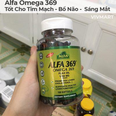Alfa Omega 369 - Tốt Cho Tim Mạch Bổ Não Sáng Mắt-19a