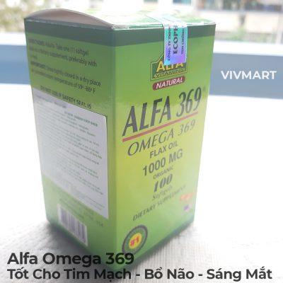 Alfa Omega 369 - Tốt Cho Tim Mạch Bổ Não Sáng Mắt-1a