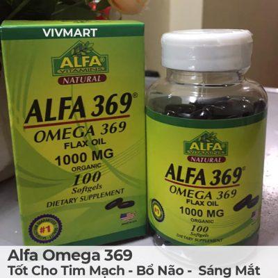 Alfa Omega 369 - Tốt Cho Tim Mạch Bổ Não Sáng Mắt-21a