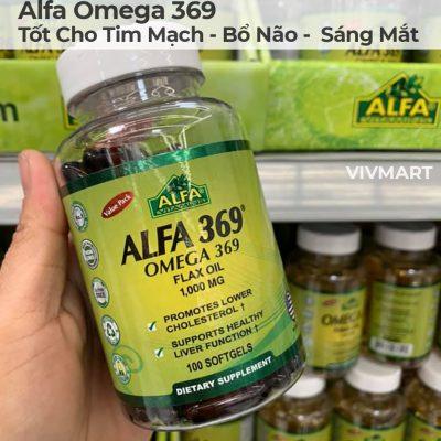 Alfa Omega 369 - Tốt Cho Tim Mạch Bổ Não Sáng Mắt-25a