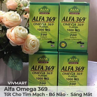 Alfa Omega 369 - Tốt Cho Tim Mạch Bổ Não Sáng Mắt-27a