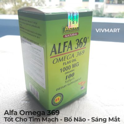 Alfa Omega 369 - Tốt Cho Tim Mạch Bổ Não Sáng Mắt-2a