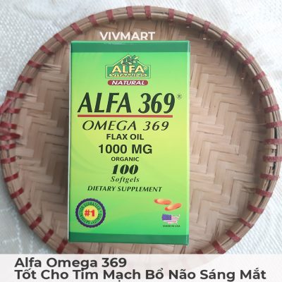Alfa Omega 369 - Tốt Cho Tim Mạch Bổ Não Sáng Mắt-41a
