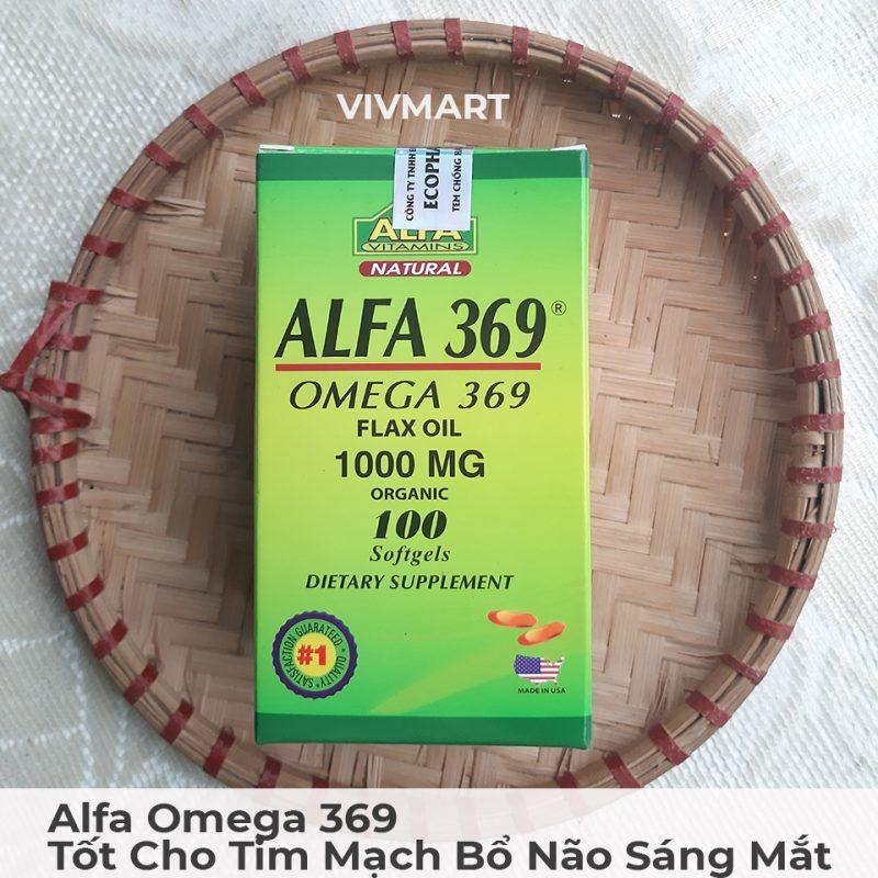 Alfa Omega 369 - Tốt Cho Tim Mạch Bổ Não Sáng Mắt-44a
