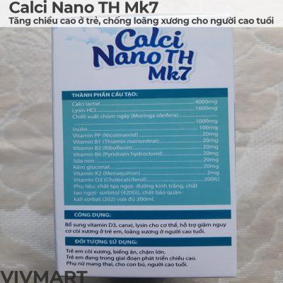 Calci Nano TH Mk7 - Tăng chiều cao ở trẻ, chống loãng xương cho người cao tuổi-10a