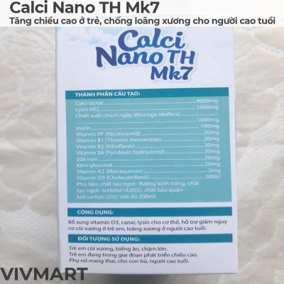 Calci Nano TH Mk7 - Tăng chiều cao ở trẻ, chống loãng xương cho người cao tuổi-11a