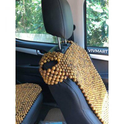 Lót ghế ô tô hạt gỗ bách xanh loại khoác vai-12